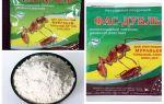 Betekent Fas tegen kakkerlakken: tabletten, gel en poeder