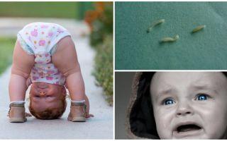 Symptomen en behandeling van wormwormen bij een kind