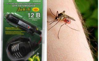 Muggenspray in de auto