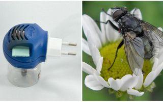 Fumigators van vliegen en muggen in de uitlaat