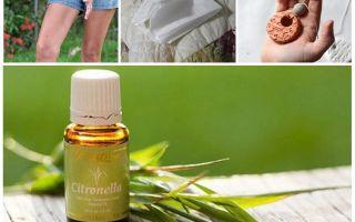 Citronella essentiële olie tegen muggen