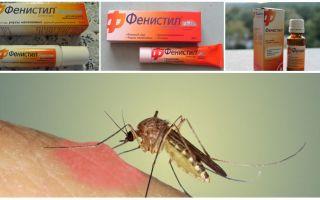 Gel Fenistil tegen muggenbeten: instructies, beoordelingen en analogen