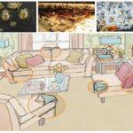 Habitats van bedwantsen in het huis