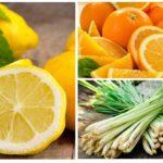 Citroen, sinaasappel en citroengras