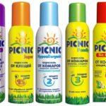 Picknick-aerosolen voor muggen