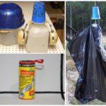 Mechanische methoden voor het verdrijven van steekvliegen en steekvliegen