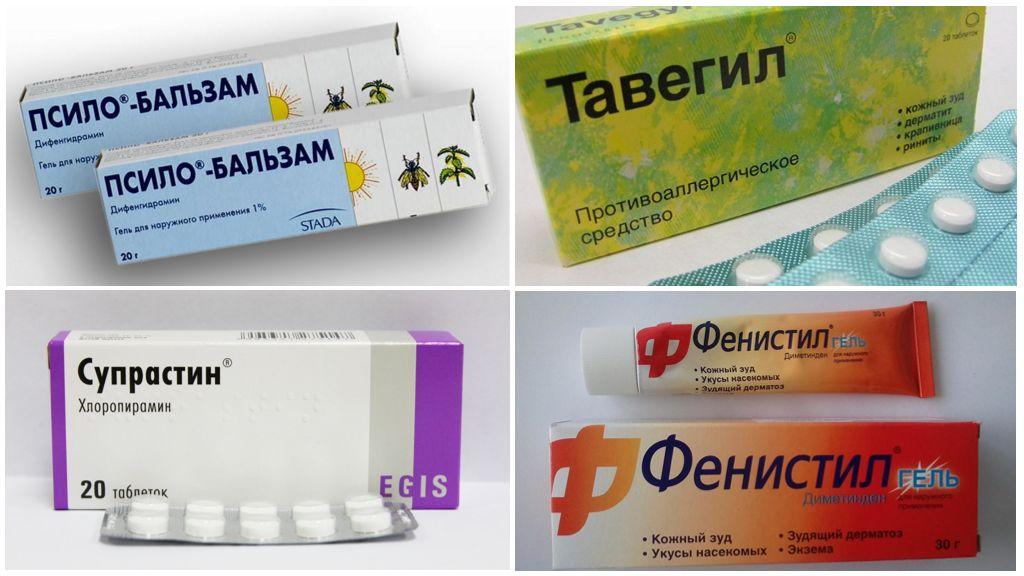 Geneesmiddelen voor het behandelen van insectenbeten
