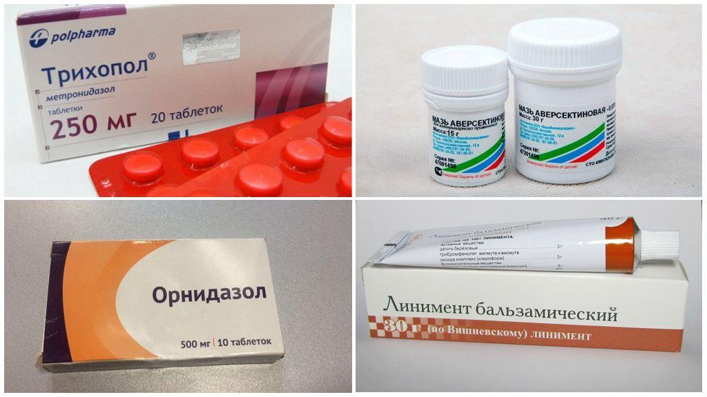 Geneesmiddelen om oormijt tegen te gaan