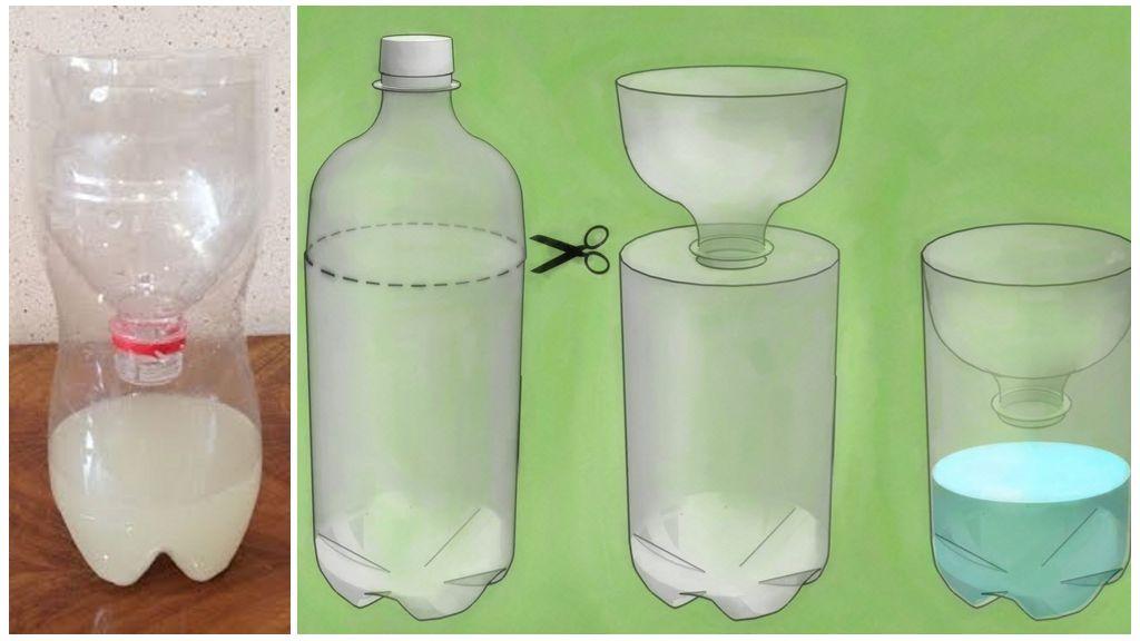 Plastic flessenval