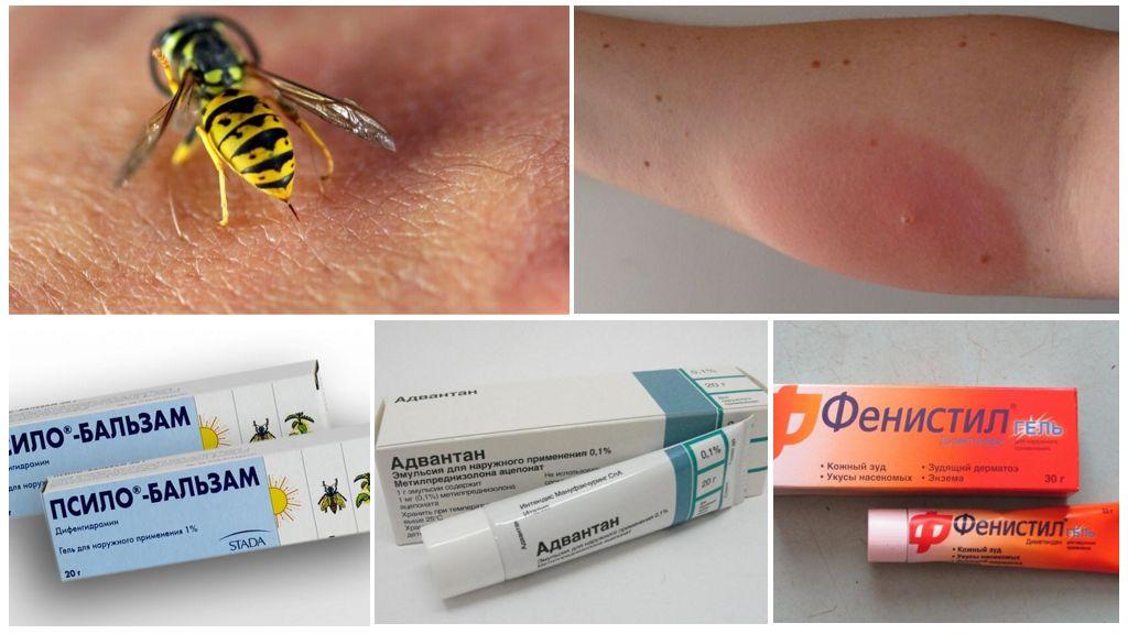 Antiallergische zalf voor wespensteek