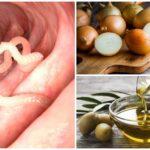 Uien en boter voor enterobiasis