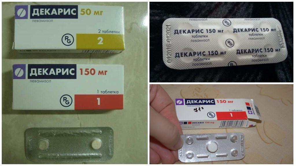 Dekaris-tabletten van wormen