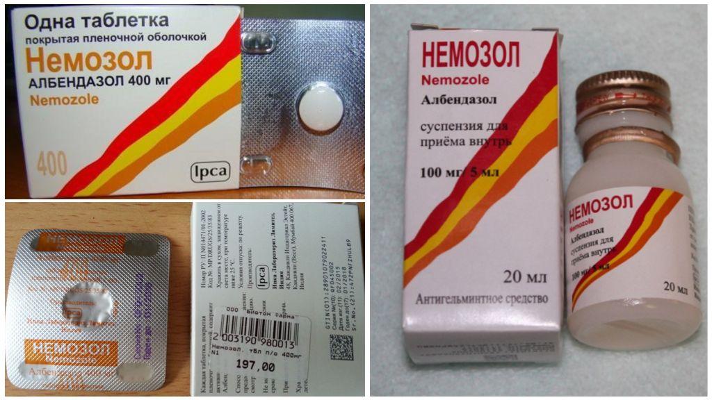 Nemozol-tabletten