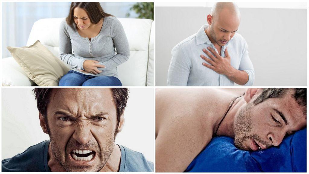 Symptomen van menselijke aanwezigheid